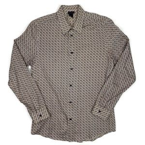 H&M 70s Retro Button Up Disco Shirt Long Sleeve